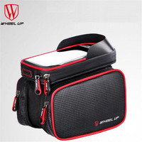 WHEEL UP 6 2 Inch Waterproof Bike Touch Screen Bag Front Frame Top Cell Phone TPU
