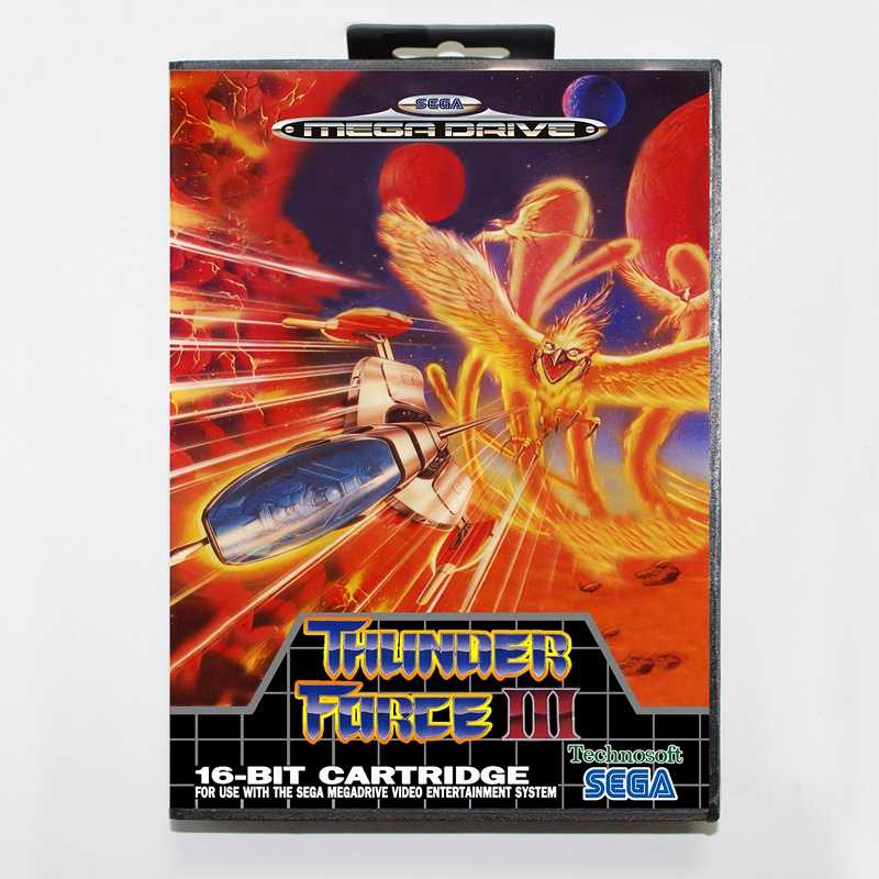 Sega MD games card - Thunder Force 3 with box for Sega MegaDrive Video Game Console 16 bit MD card