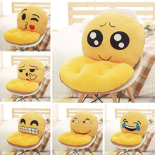 2017 New Emoji Smiley Emoticon Travesseiro Almofada Coussin, Recheado De Pelúcia Almofadas, Smiley Face Do Sofá Decorativo Travesseiro Almofada(China)