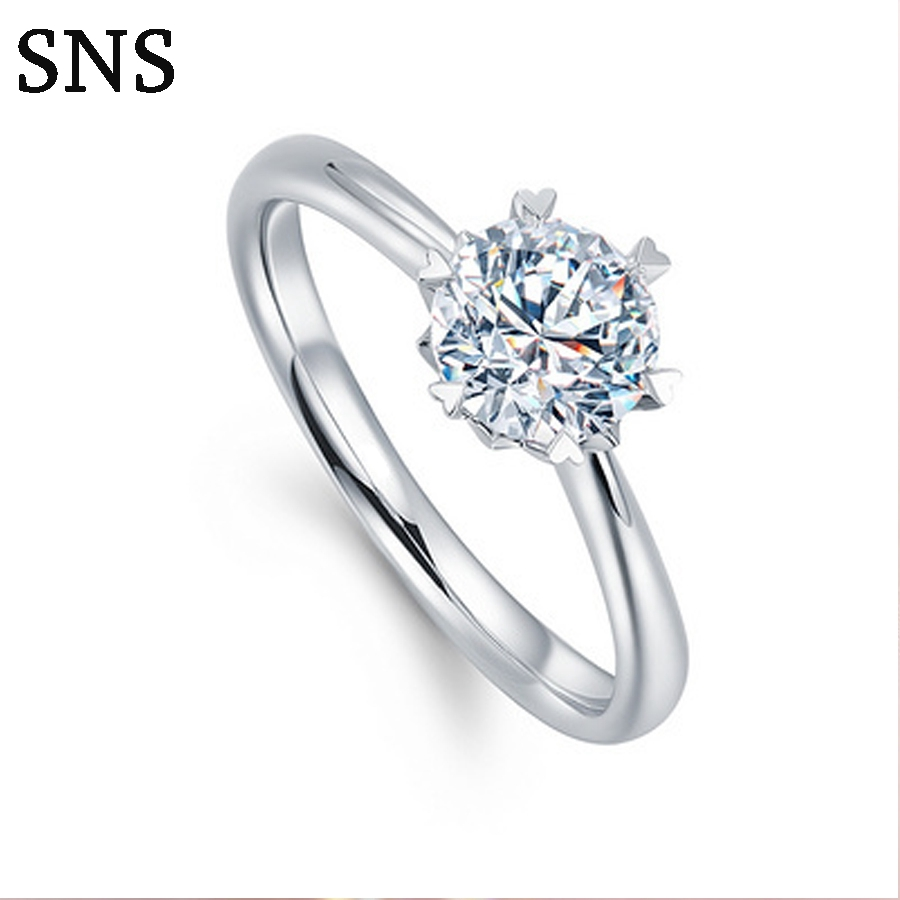 Real Natural 0.3carat Diamond Engagement Ring Halo Style Classic 6-Prong Setting 14k White Gold For LadyReal Natural 0.3carat Diamond Engagement Ring Halo Style Classic 6-Prong Setting 14k White Gold For Lady
