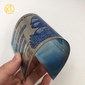 Image 4 - Hot Bán 1000 Mảnh Đầy Màu Sắc Sivler/Gold Foil Tiền Giấy Zimbabwe Bạc Tiền Giấy Với Giấy Hộp Gỗ Cho Mã Tiền giả