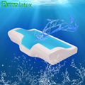 PurenLatex 50*30 Silicone Gel Memory Foam Pillow Summer Ice Cooling Pillow Neck Comfort Orthopedic Pillow with Mesh Pillowcase