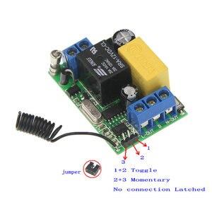 Image 3 - 3000 м переменный ток 220 в 1 канал 1 канал реле радиочастотный переключатель дистанционного управления 2 канала передатчик + мини 10а приемник 315/ 433, межблокировка