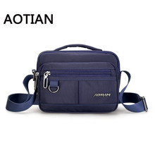 AOTIN New Style Design Sling Bag Men Nylon Shoulder Bag Crossbody Bag For Man Fashion Waterproof Clutch Messenger Bags стоимость