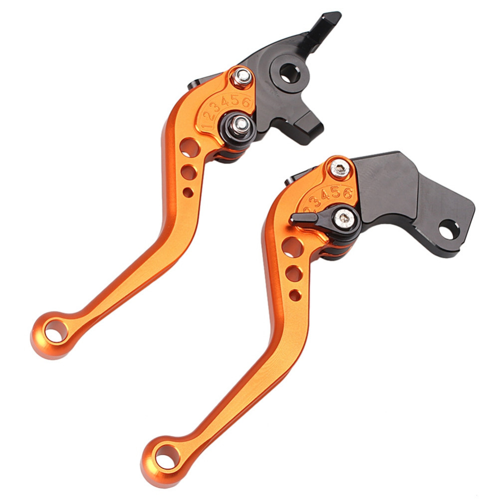 Motorcycle Short Brake Clutch Levers for KTM Duke 200 125 2012 2013, Orange Color for ktm 390 duke motorcycle leather pillon rear passenger seat orange color
