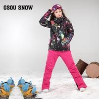 New Gsou Snow Double Snowboard Suit Winter Heavy Korean Fan Outdoor Windproof Waterproof