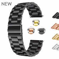 18 мм 22 мм 20 мм 24 мм ремешок из нержавеющей стали для часов SAMSUNG Galaxy Watch 42 46 мм gear S3 gear S2 Classic quick release