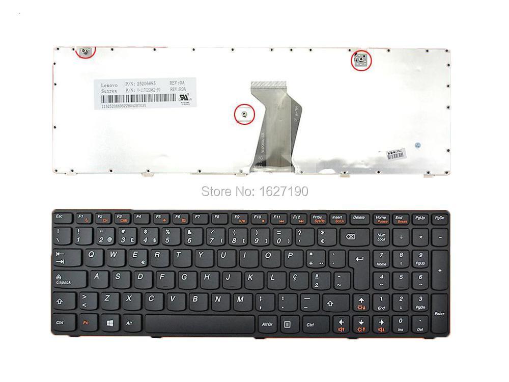 PO portugués teclado portátil para Lenovo ideapad Z580 V580 G580 marco negro Win8 PN: 25206695 V117020NK2