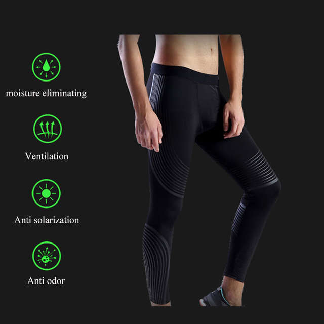 429f1403e9fbb UABRAV Hot Sale Men's Running Tights Striped Pants Sports Running Tights  Gym Bodybuilding Excrise Fitness Running