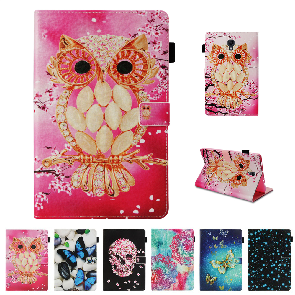 Cartoon Tablets Case For Samsung Galaxy Tab A A2 10.5 Inch 2018 T590 T595 PU Leather Books Stand Protective Case Cover Shell