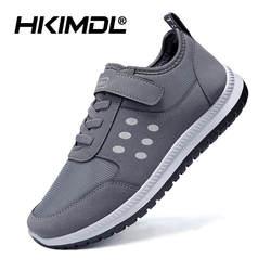 HKIMDL/Новинка 2019 года весна осень новый стиль для мужчин повседневная обувь кружево до дышащие удобные мужские туфли sapatos masculino