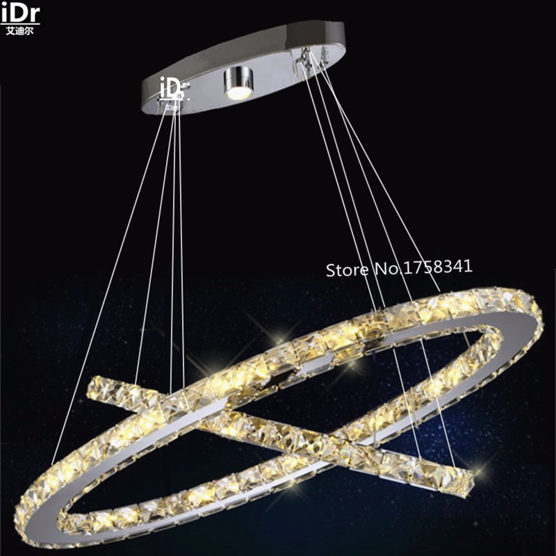 Oval LED Pendant Lights Modern Bedroom Living Room Lamp Crystal Lighting Led Restaurant 100