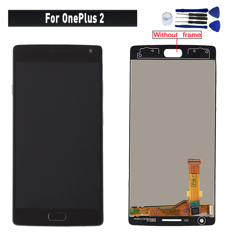 Original For <font><b>OnePlus</b></font> <font><b>2</b></font> A2001 display lcd <font><b>Screen</b></font> <font><b>replacement</b></font> for <font><b>OnePlus</b></font> <font><b>2</b></font> A2003 A2005 lcd display touch <font><b>screen</b></font> completely module image