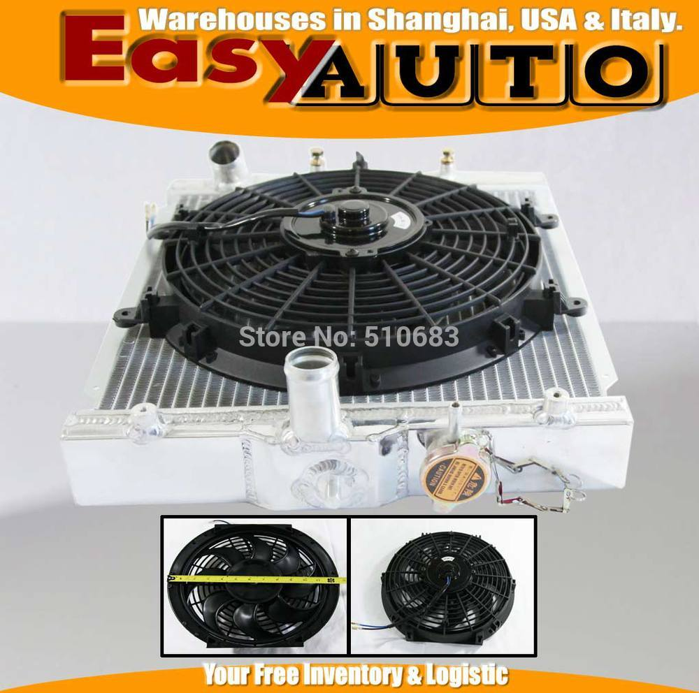 Manual del ventilador del radiador de carreras solo para Hond @ Civi * c 88-00 + SLIM 12