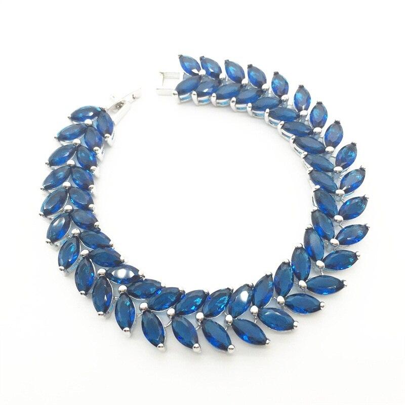 SparShine Bracelets Bangles 2015 New Design Colorful AAA Zircon Bracelet 18K White Gold Plate Women Bracelet