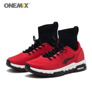 Image 4 - Yeni onemix kış koşu ayakkabıları erkekler için yürüyüş ayakkabısı açık ayakkabı kış ayakkabı koşu sneakers rahat koşu ayakkabıları