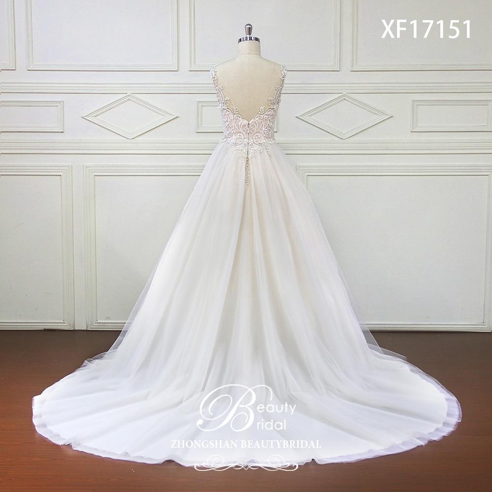Eslieb High-end op maat gemaakte diepe V bruids Boho trouwjurk 2018 - Trouwjurken - Foto 3