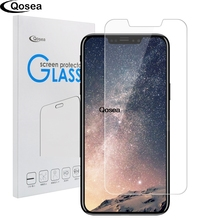 Qosea For iPhone X 10 Tempered Glass Ultra-thin 9H Protective Film Explosion-proof For iPhoneX 8 Plus Toughened Screen Protector