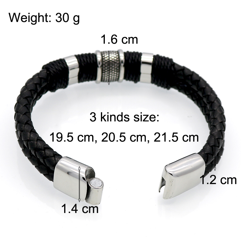Handmade Genuine Leather Weaved Double Layer Man Leather Bracelets Casual/Sporty Bicycle Motorcycle Delicate Cool Men Jewelry