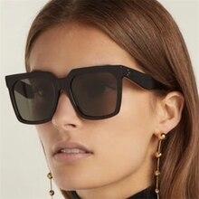 2019 Flat Top Sunglasses Lady Eyewear Lunette Femme Women Lu