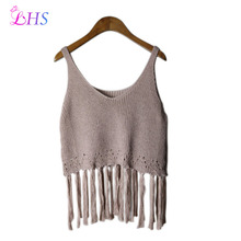 1X Vest Sweater Hole Top Blouses Autumn Sleeveless Sexy Womens Tops Knitting Winter Punk Rock Pullover Women's Clothing Clothes