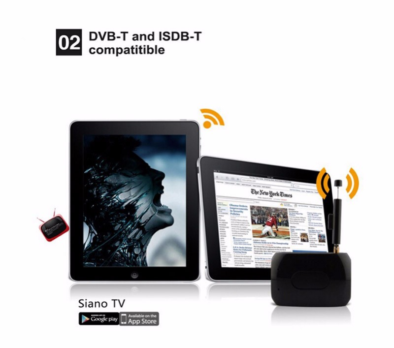 US $38 46  Mobile DVBT Digital TV Box DVB T Wifi ISDB T DTV Link Live in TV  Tuner Receiver ISDBT Built in WiFi for Android IOS Phone-in TV Stick from