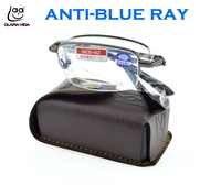 Clara vida liga de titânio dobrável com caixa cinto anti azul ray masculino feminino computador óculos de leitura + 1 1.5 2 2.5 3 3.5 4