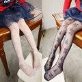 Meia-calça infantil primavera outono Rendas Meninas Meias Crianças Meias de Seda Crianças brancas pretas Justas Pantyhose encantador bordado