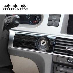 Cubierta de marco de salida de aire AC decorativa con diseño para coche, pegatina de ajuste para Audi A6 C5 C6 2005-2011 accesorios interiores para automóviles LHD