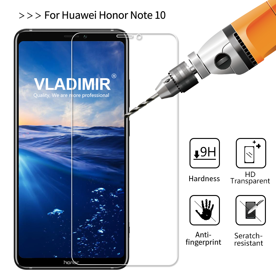 Vladimir 9H 2.5D Not Full Cover Clear Tempered Glass for Huawei Honor Note 10 Screen Protector Protective Film