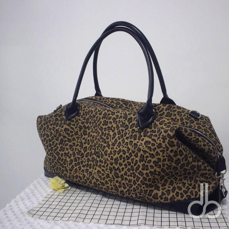 Large Cheetah Patterns Duffle Bag Canvas Duffle Bag ,Wholesale Leopard Design Accessory Organizer Night Tote DOM-1010682
