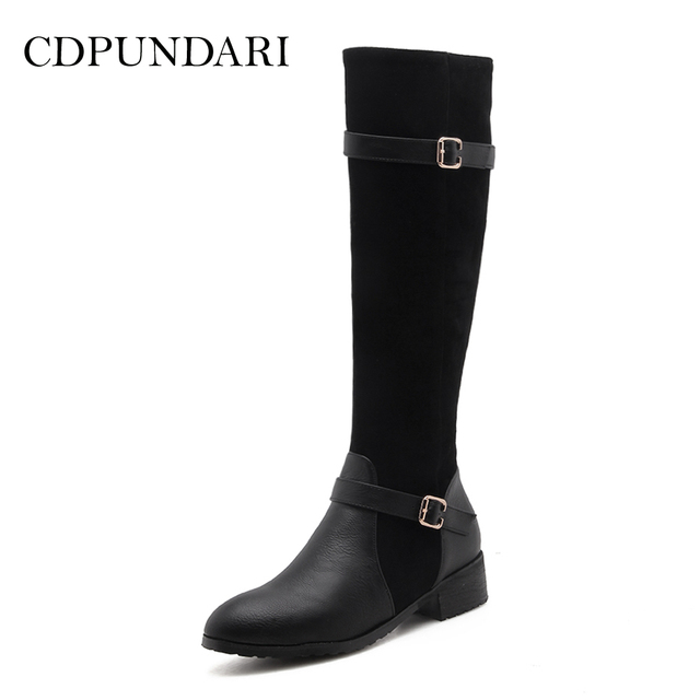 c47e8d9b32ef CDPUNDARI Rome Motorcycle boots women Winter boots shoes Ladies Calf boots