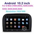 10.2 дюймов HD 1024X600 Android Автомобильный DVD Плеер, Радио GPS для Mercedes-Benz S-Class W220 W215 Cl-класса multimeida с Wi-Fi BT