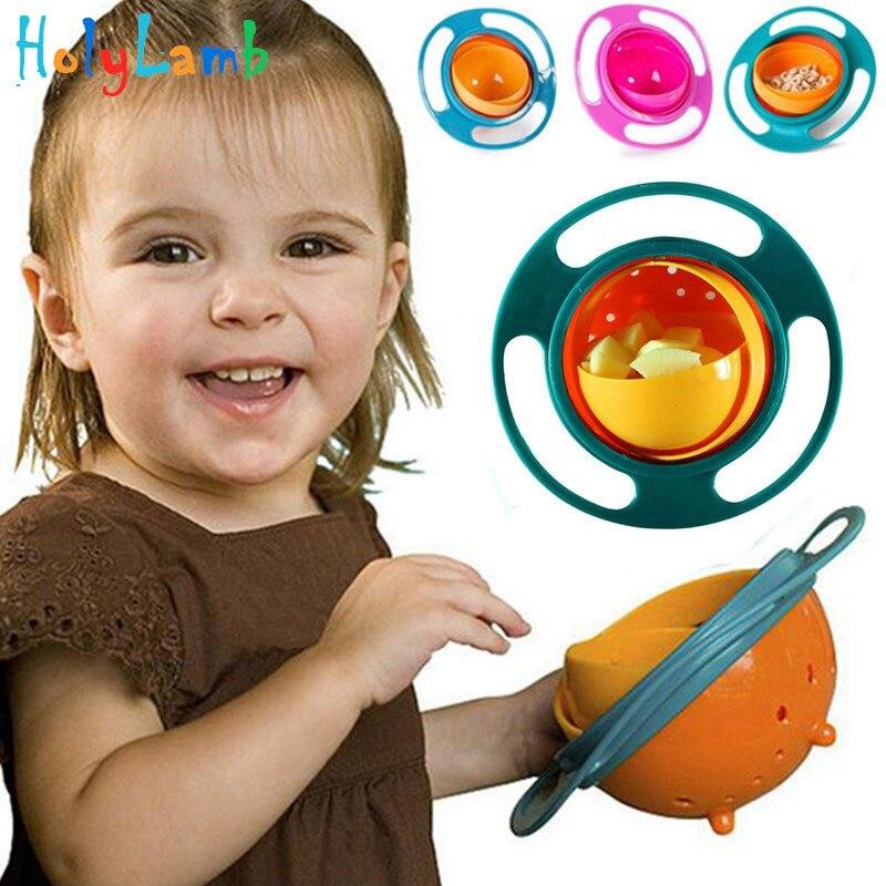 Детская универсальная 360 Поворот влагозащищенная Bowl Миски детские для маленьких избежать Еда разлив Кормление Чаши практические Столовая ...