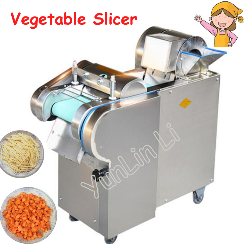 Commercial Vegetable Slicer Onion Slicing Machine Electric Vegetable Potatoes Cutter Carrots Cutting Machine 660 type