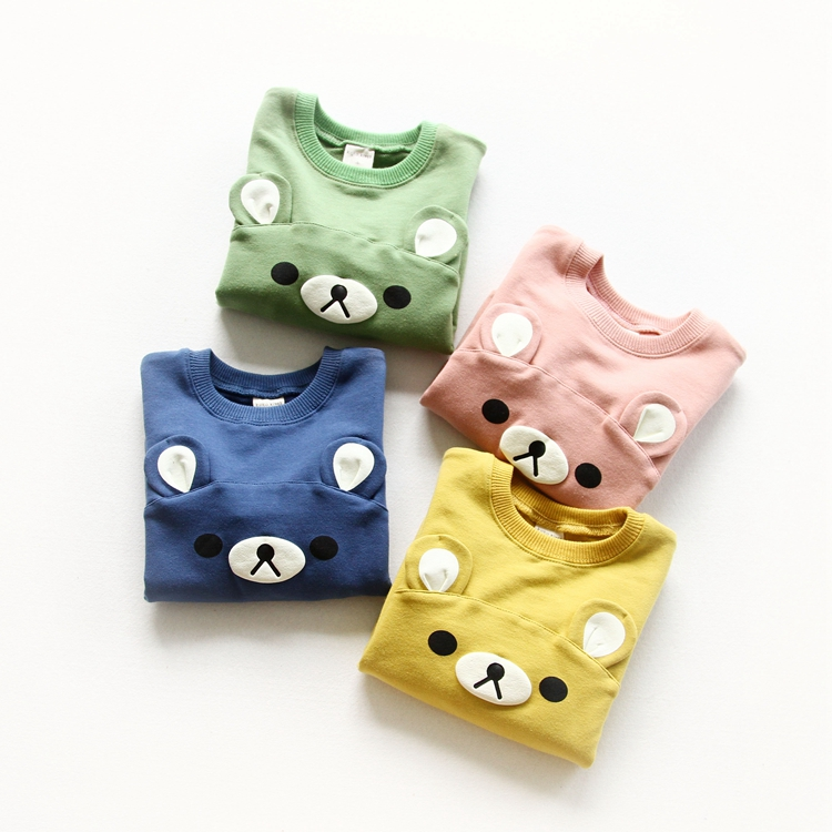 Jchao kids Bear ears Hoodies Children Sweatshirt Boys Girls Spring Autumn Coat Cartoon Long Sleeve Casual Outwear Baby Clothing