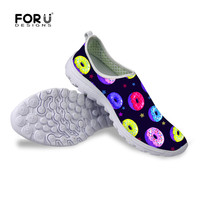 FORUDESIGNS Aqua Shoes Men Colorful Donuts Summer 2017 Outdoor Wading Upstream Shoes Sport Sneakers Breathable Woman