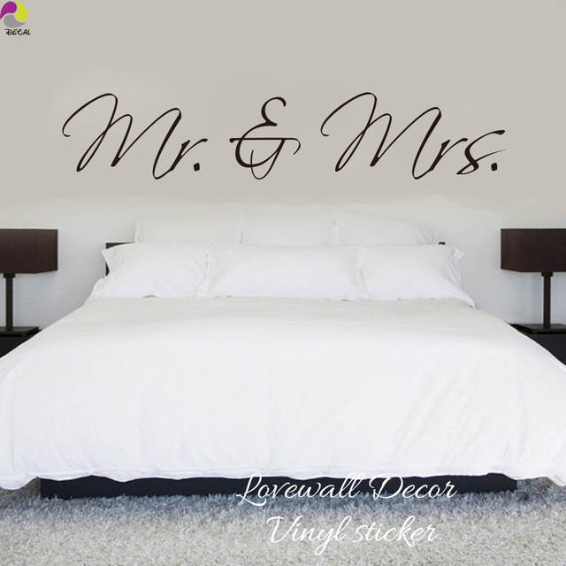 Online Shop Mr Mrs Wall Sticker Bedroom Sofa Wedding Room Party Adorable King And Queen Love Quotes