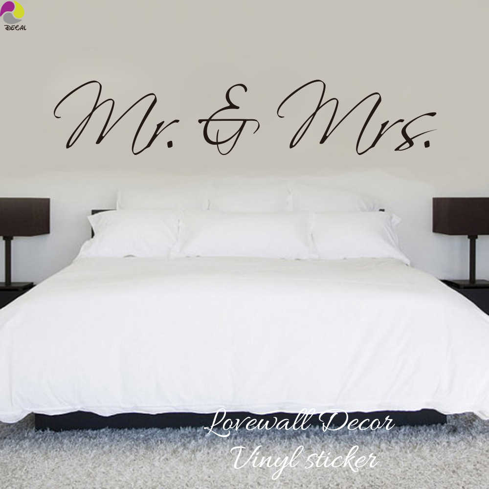 Sofa King Queen Mr Mrs Wall Sticker Bedroom Sofa Wedding Room Party King Queen Love Quote Wall Decal Family Vinyl Home Decoration Art Mural
