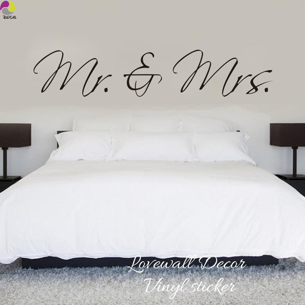 US $5.86 15% OFF Mr & Mrs Wandaufkleber Schlafzimmer Sofa Hochzeitszimmer  Partei König königin Liebe Quote Wandtattoo Familie Vinyl Home Dekoration  ...