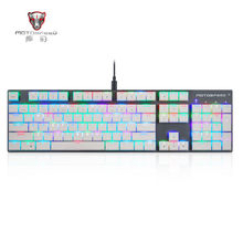 Motospeed CK94 104 Kunci Keyboard Mekanik Keyboard Gamer Kabel Teclado RGB Backlit Gaming Keyboard Klavye untuk Permainan PC L0419 #3(China)