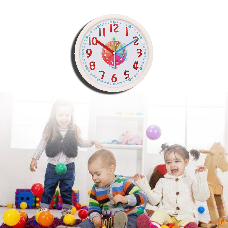 School Children Wall Clock, safe design for kids, fun for understanding time, non ticking, accurate time, high quality movement