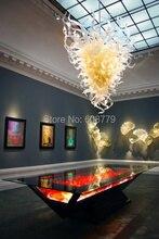 лучшая цена Free Shipping Elegant Hotel Large Murano Glass Rectangular Chandelier