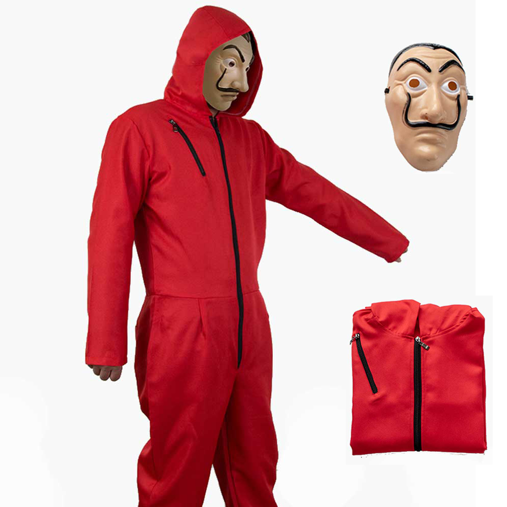 Adult Kids Salvador Dali Cosplay Movie Mask Money Heist The House of Paper La Casa De Papel Cosplay Costume Face Mask Halloween