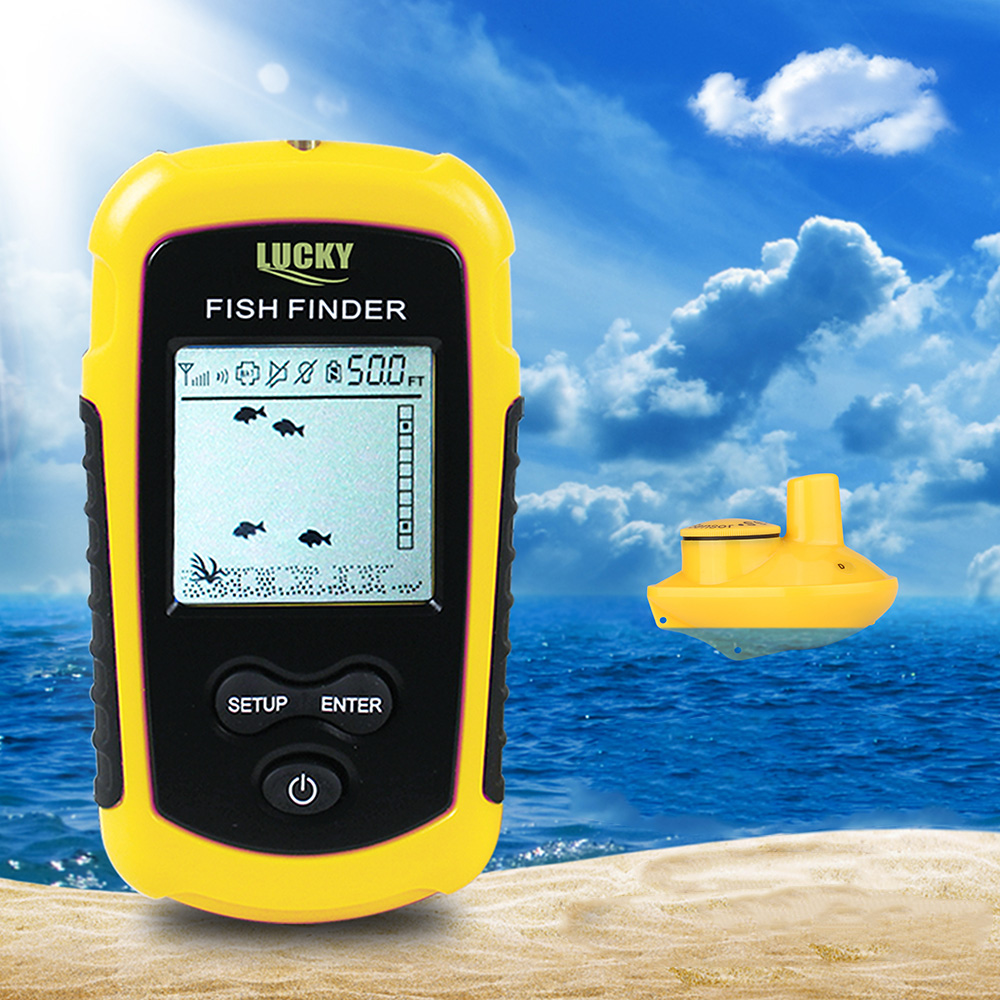 LUCKY FFW1108 - 1 Portable Fish Finder Wireless Fish Finder Sonar Sensor Transducer Echo Sounder Alarm Detector For FishingLUCKY FFW1108 - 1 Portable Fish Finder Wireless Fish Finder Sonar Sensor Transducer Echo Sounder Alarm Detector For Fishing