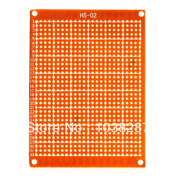 Prototype Universal Printed Circuit Board Breadboards - Brown (10-Pack)
