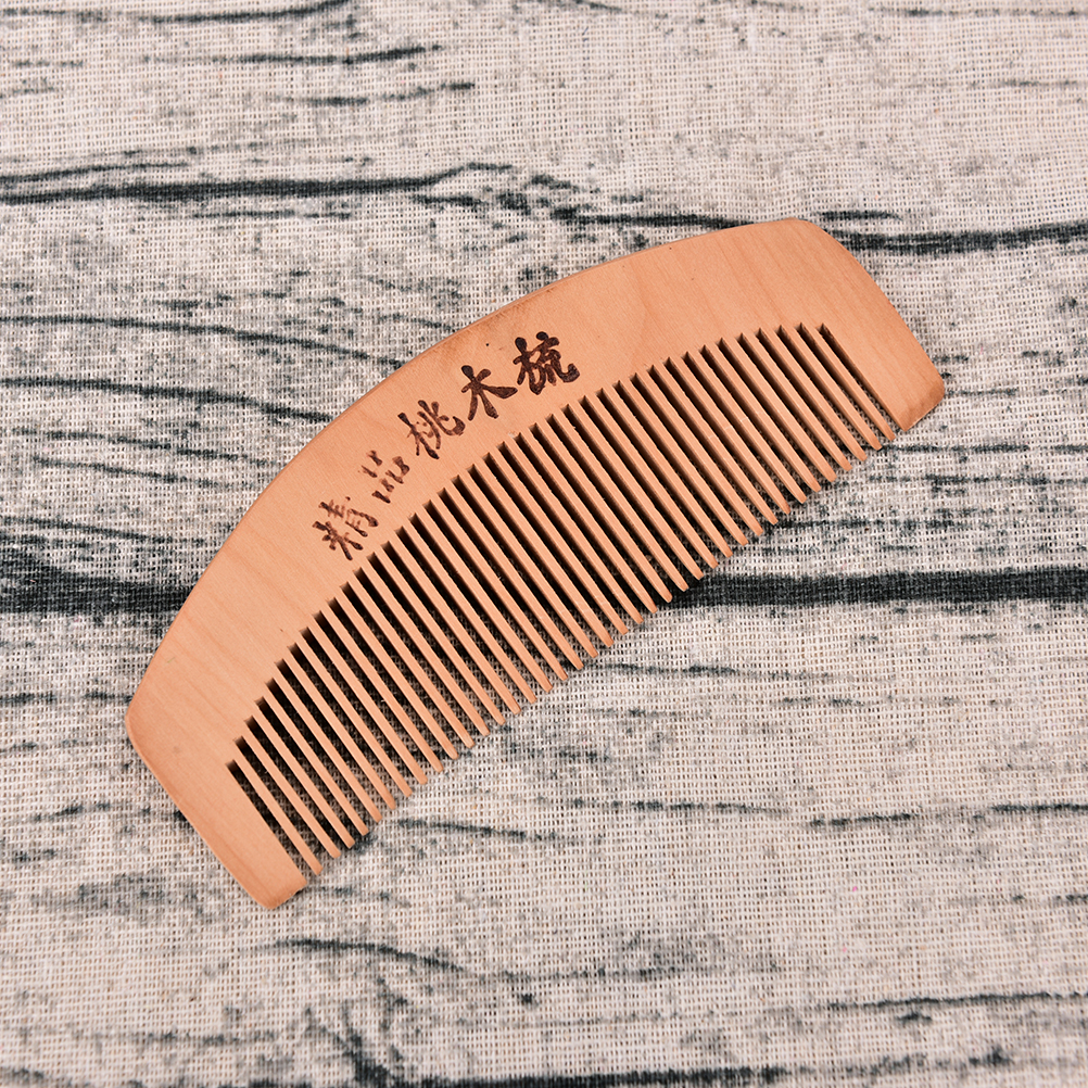 S/L Pocket Comb Handmade Sandalwood Anti-Static for hair Beard And Mustache Combs Hair Brush 4