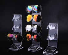 Hot sale 5pcs clear acrylic Sunglasses Glasses display stand Reading glasses night vision holder bracelet jewelry rack