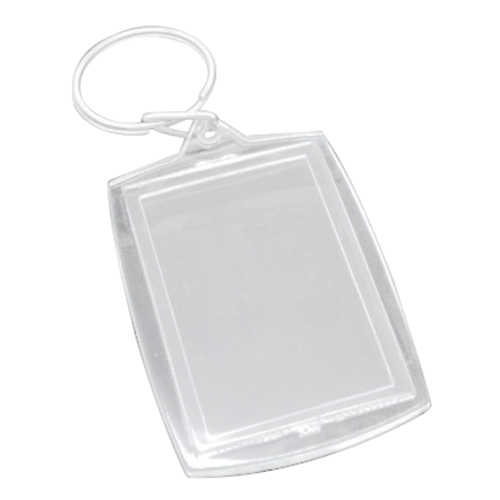 50 Key Chains & Key Rings com Molduras Transparentes