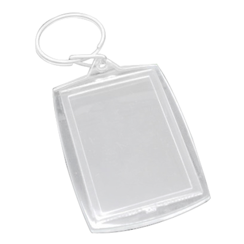 50 Key Chains&Key Rings with Transparent Picture Frames ...